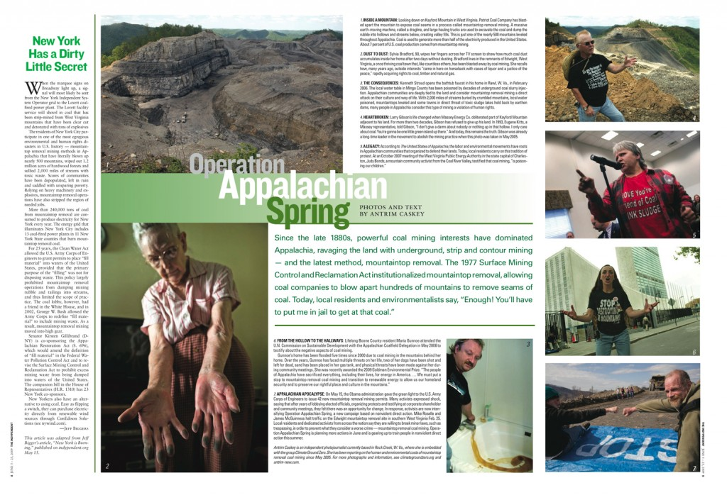 Operation Appalachian Spring  (text and photos by Antrim Caskey (c) 2009 )